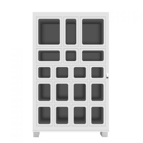 18 lockers vending machine