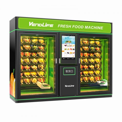 Double Cabinets Fruit & Vegetable Vending Machine