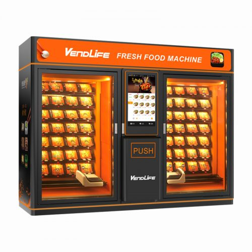 Hot Food Vending Machine Double Cabinet