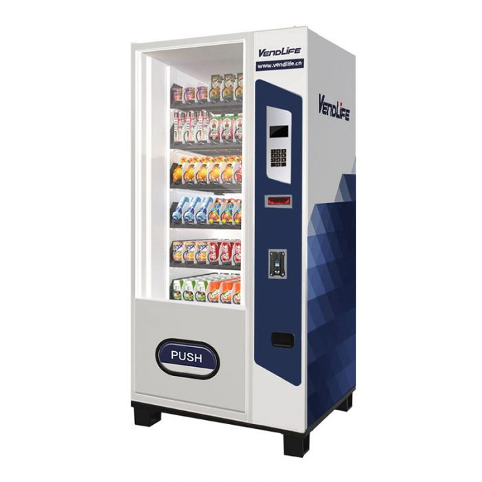 mini drink vending machine with coin and bill payment