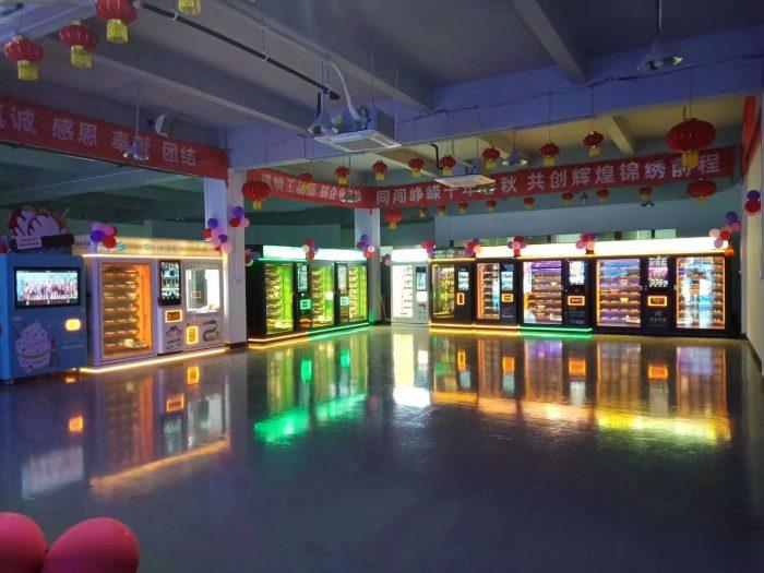 Vendlife vending machine manufacturer showroom in Guangzhou