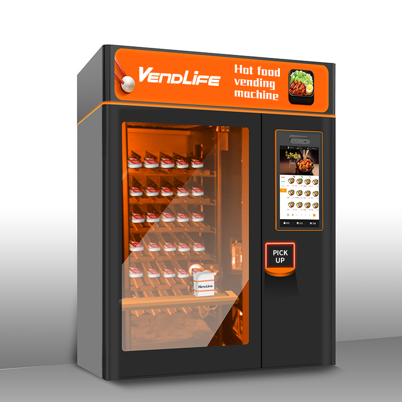 Warm Frozen Food In Microwave: Frozen Food Vending Machine With Microwave
